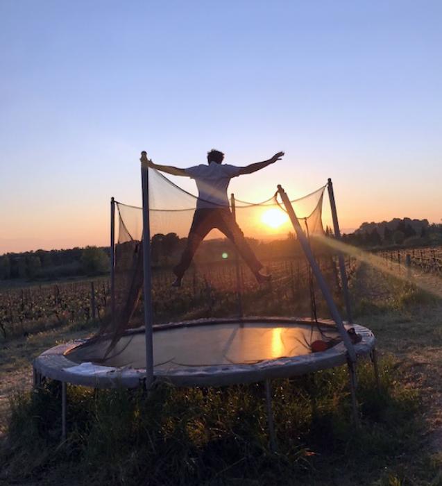 photo de guillaume chamboredon sur un trampolin